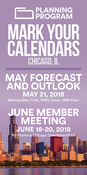 Foodservice Planning Program - Mark Your Calendars for May Forecast and Outlook and June Member Meeting - Chicago, IL