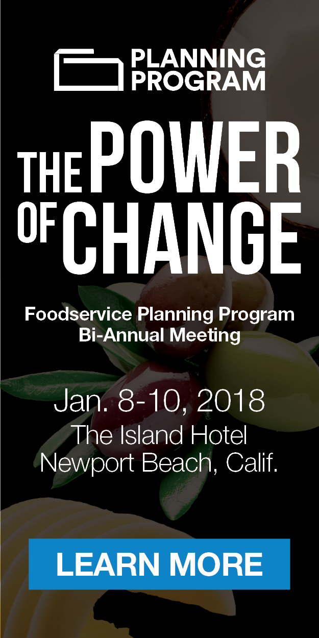 Foodservice Planning Program - The Power of Change - Jan. 8-10, 2017 - The Island Hotel - Newport Beach, Calif.